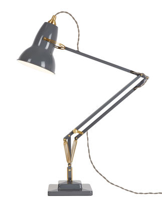 Luminaire - Lampes de table - Lampe de table Original 1227 Laiton - Anglepoise - Gris éléphant - Aluminium, Fonte, Laiton
