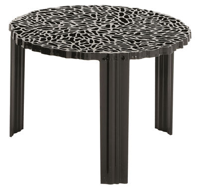 Tavolino T-Table Medio di Kartell - Nero opaco - Materiale plastico