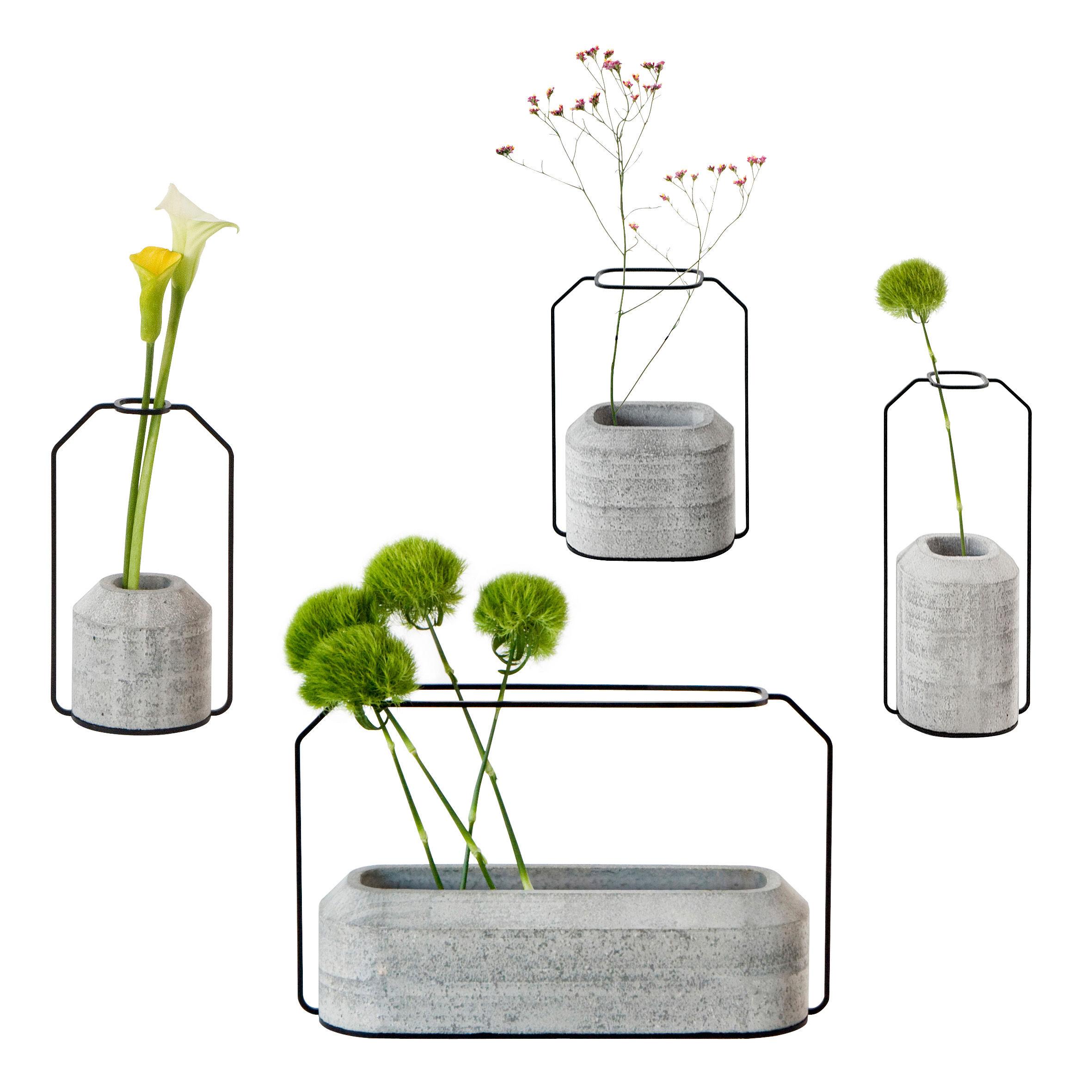 vase weight set de 4 vases gris b ton sp cimen editions made in design. Black Bedroom Furniture Sets. Home Design Ideas