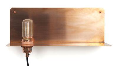 Applique avec prise 90° / Etagère - Frama cuivre en métal