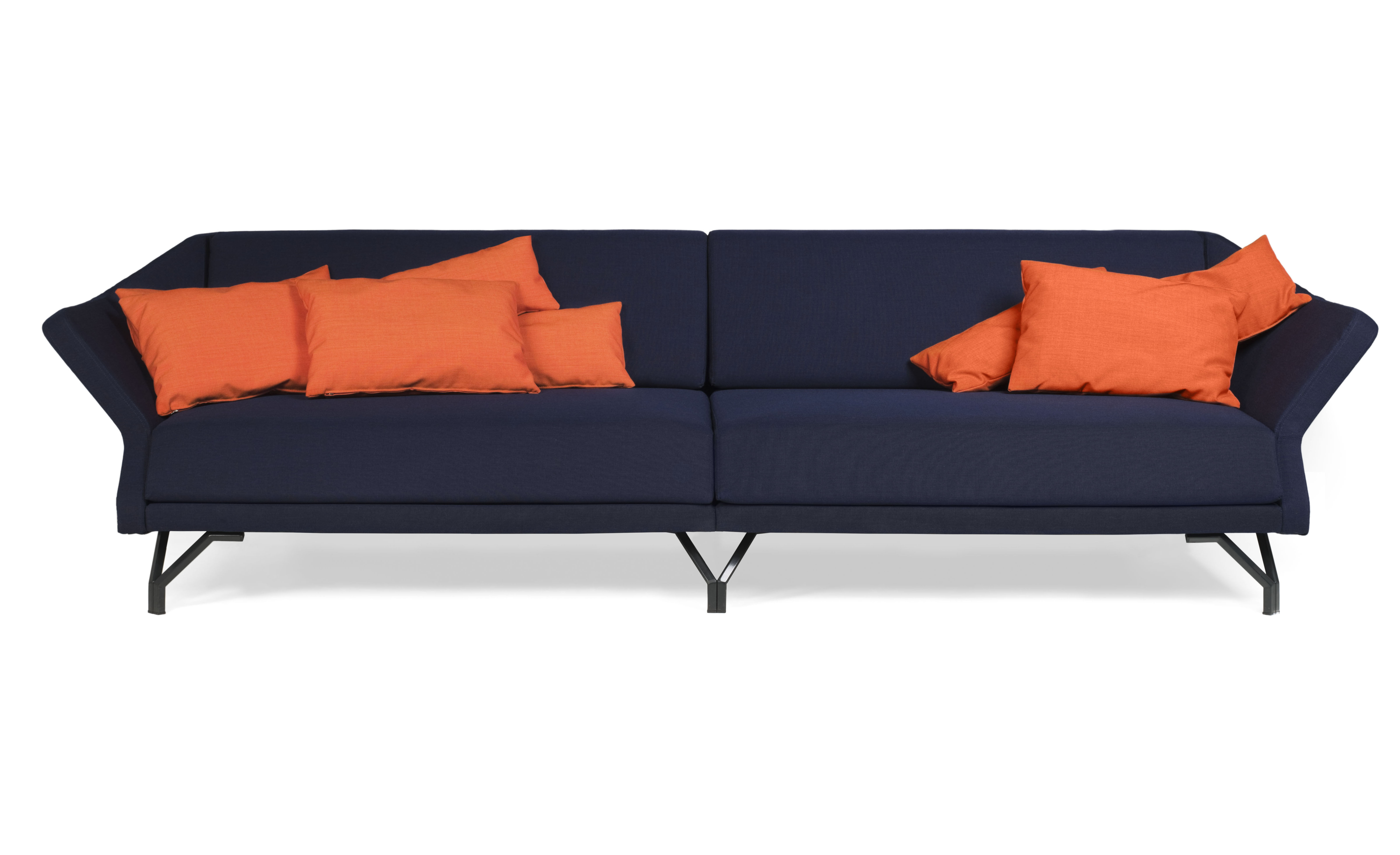 canap droit shogun 4 places l 268 cm bleu skitsch. Black Bedroom Furniture Sets. Home Design Ideas
