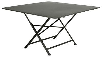 Foto tavolo pieghevole Cargo / 128 x 128 cm - Fermob - Rosmarino - Metallo