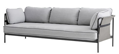 Canapé droit Can / 3 places - L 247 cm - Hay - Grigio,Nero,Grigio chiaro - Metallo