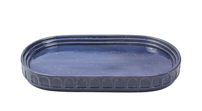 Plat Hestia / Céramique - 40 x 26 cm - Doiy bleu en céramique