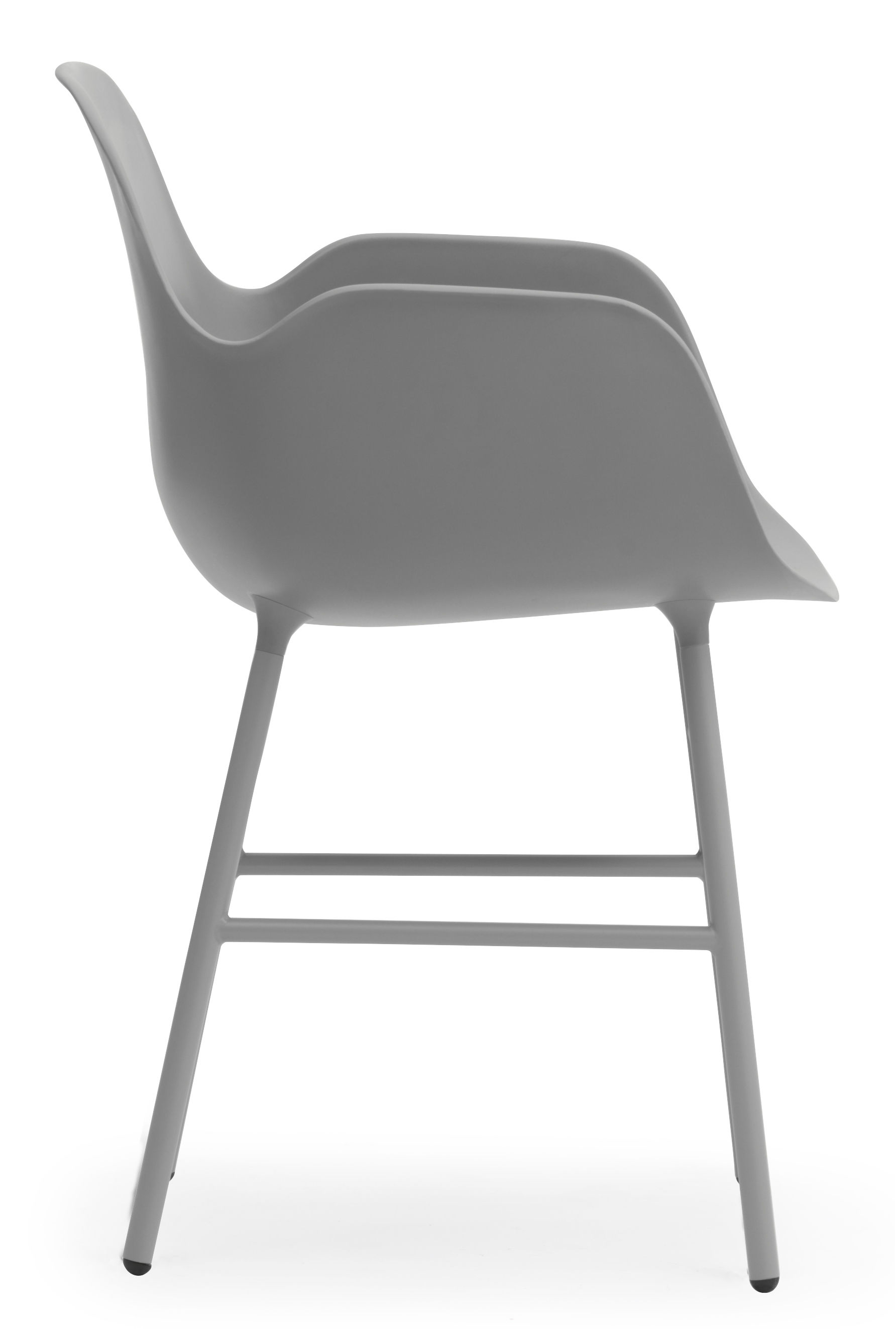 fauteuil form pied m tal gris normann copenhagen. Black Bedroom Furniture Sets. Home Design Ideas