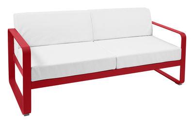 Canapé droit Bellevie 2 places L 160 cm Tissu blanc Fermob blanc,coquelicot en métal