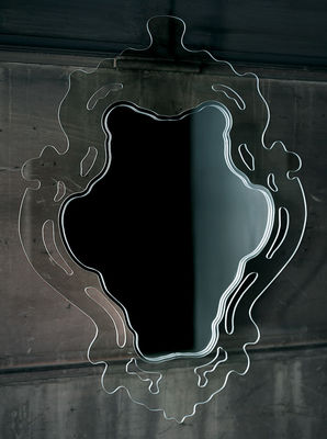 Furniture - Mirrors - Rokoko Wall mirror by Glas Italia - Transparent - Vertical - Glass
