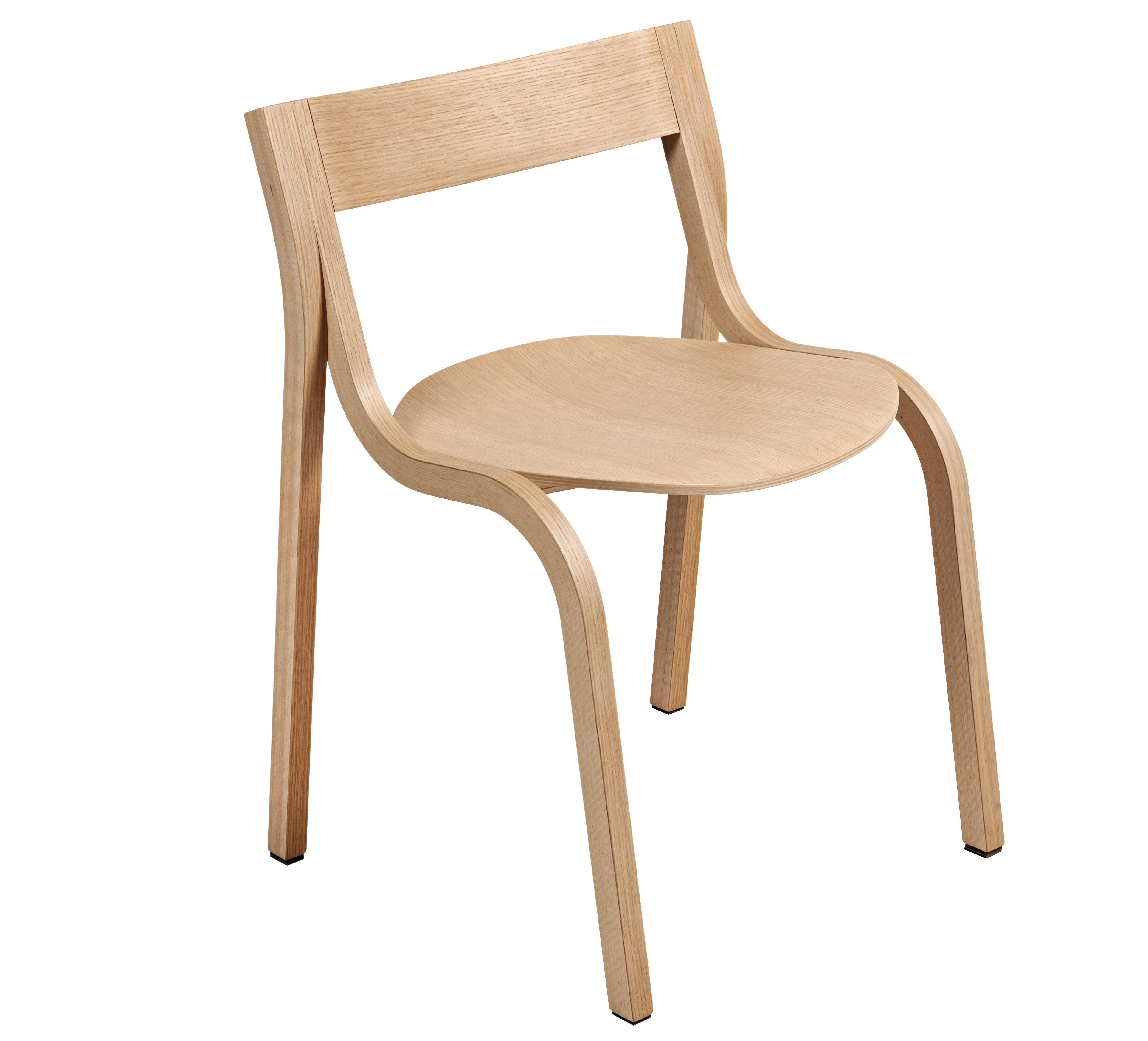 Chaise empilable konrad bois naturel ch ne blanchi lapalma for Chaise empilable