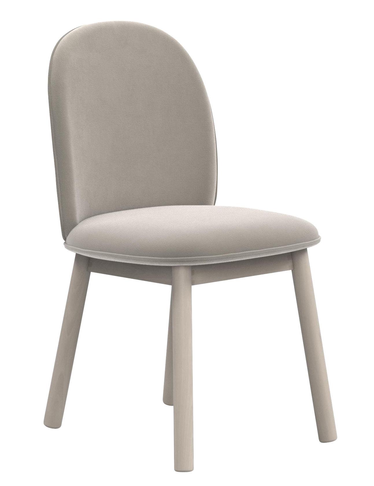 chaise rembourr e ace velours bois velours beige normann copenhagen made in design. Black Bedroom Furniture Sets. Home Design Ideas