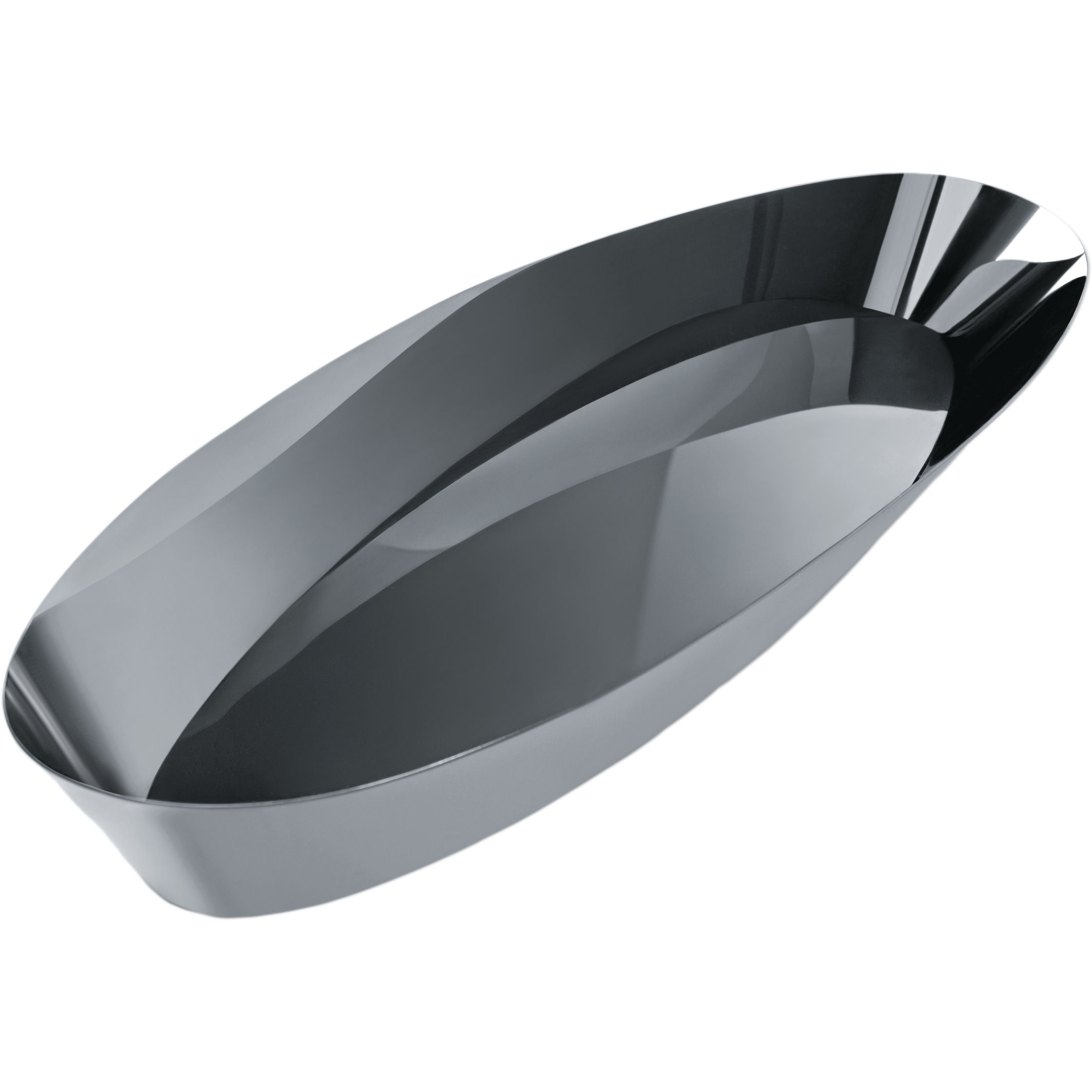 corbeille pain pinpin 37 x 15 cm acier brillant alessi made in design. Black Bedroom Furniture Sets. Home Design Ideas