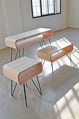 Console Metro Sofa / Bureau - L 120 x H 80 cm Bois naturel / Pied ...