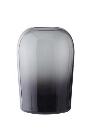 Déco - Vases - Vase Troll Large / Ø 13 x H 19 cm - Menu - Gris fumé - Verre soufflé