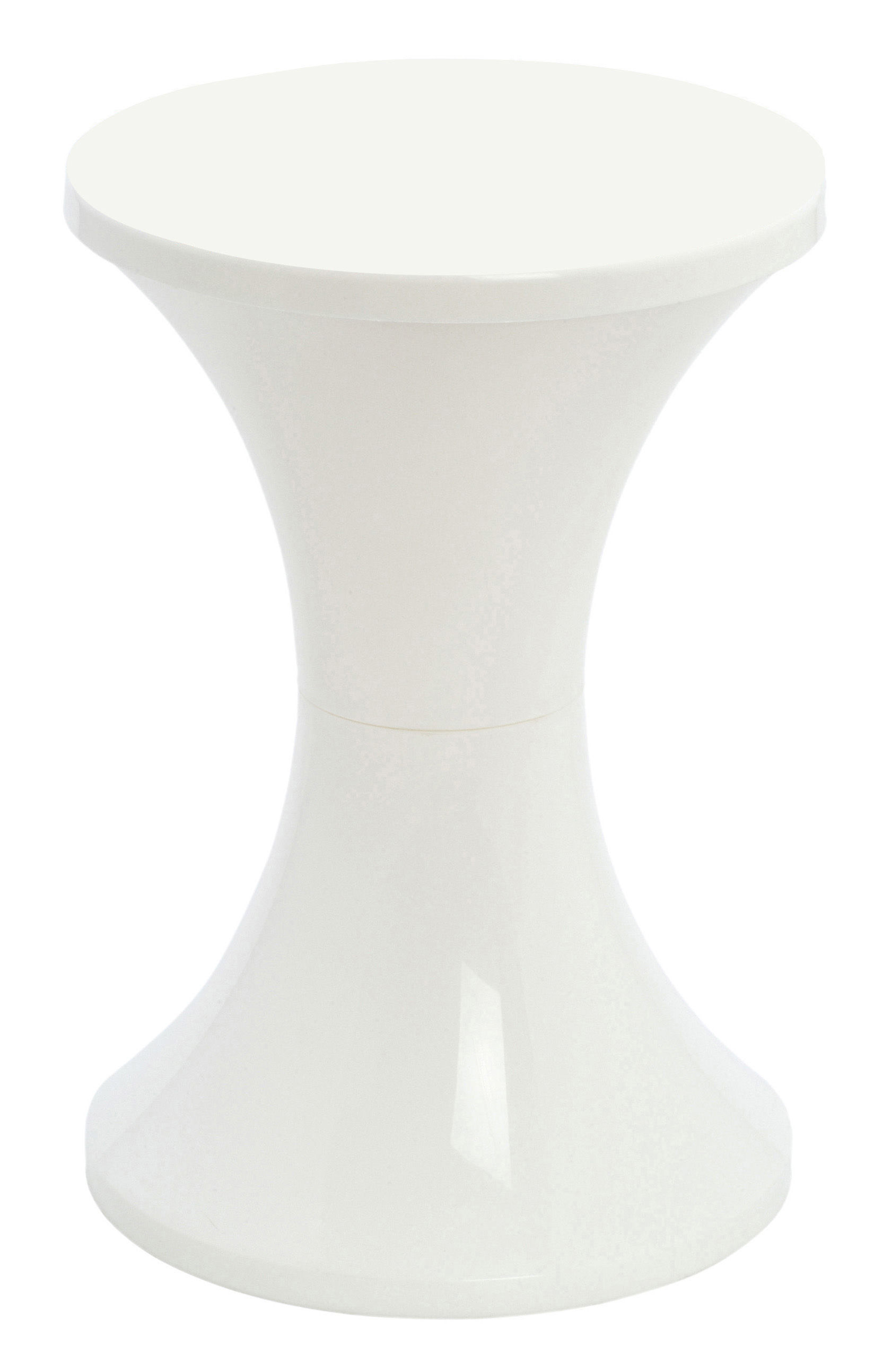 tabouret tam tam pop plastique blanc stamp edition. Black Bedroom Furniture Sets. Home Design Ideas