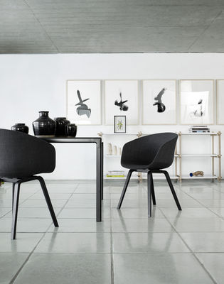 hay about a chair hay sessel stoffbezug gestell esche. Black Bedroom Furniture Sets. Home Design Ideas