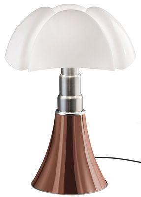 Lampe de table Pipistrello LED / H 66 à 86 cm - Martinelli Luce blanc,cuivre en métal