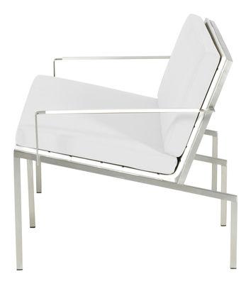 Foto Cuscino da seduta e schienale per il divano lounge Bandoline - Viteo - Bianco - Tessuto
