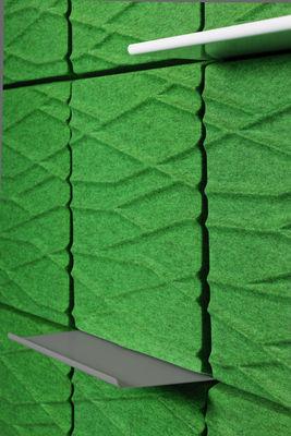 Foto Scaffale - per pannello murale acustico Soundwave - L 58,5 cm di Offecct - Grigio antracite - Metallo