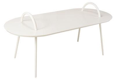 Tavolino Swim - / Per l'interno - 118 x 53 cm di Bibelo - Bianco - Metallo