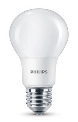 Ampoule LED E27 Standard Dépolie / 7,5W (60W) - 806 lumen - Philips blanc dépoli en verre