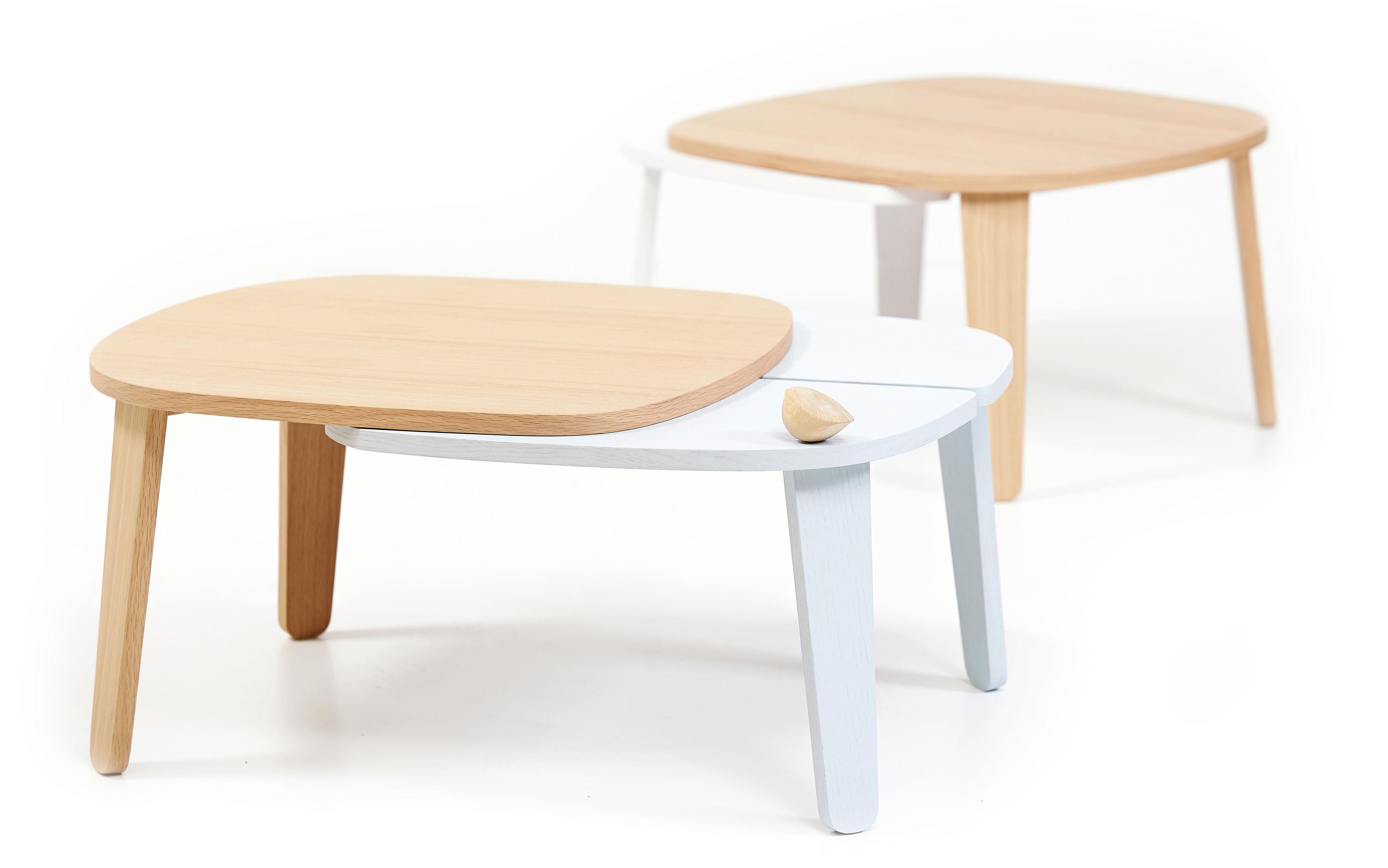 table basse colette longueur ajustable ch ne extension blanche hart. Black Bedroom Furniture Sets. Home Design Ideas