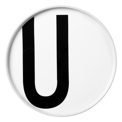 Assiette Arne Jacobsen Porcelaine Lettre U Ø 20 cm Design Letters blanc en céramique
