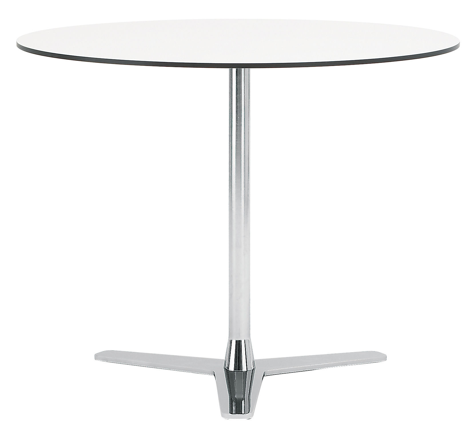 table propeller 90 cm blanc pied chrom offecct. Black Bedroom Furniture Sets. Home Design Ideas