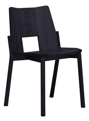Chaise empilable Tronco / Bois - Mattiazzi noir en bois