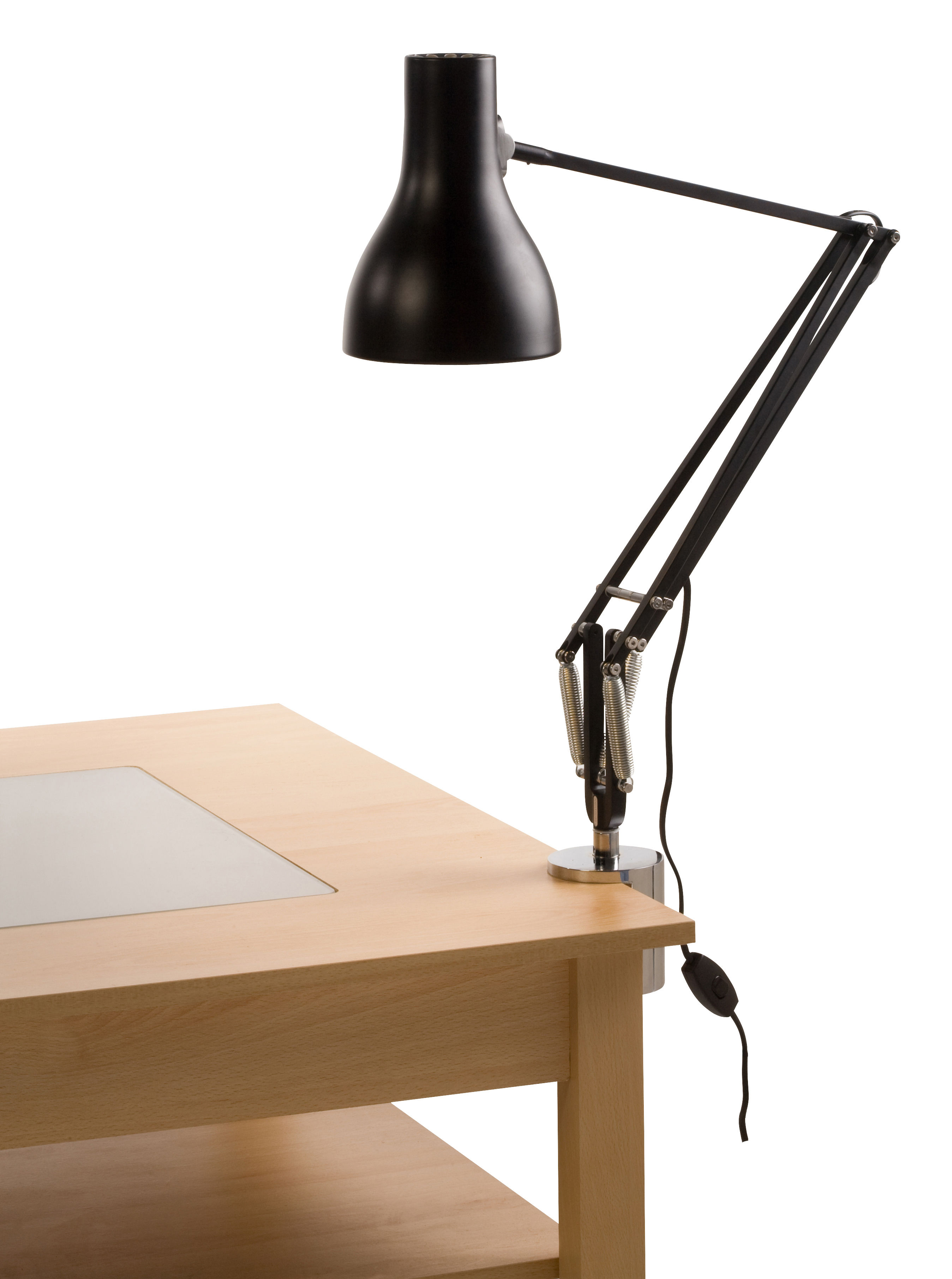 chip light lamp originality clip modern gold top clamp desk task lighting on architect blue