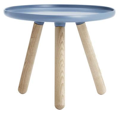 Tavolino Tablo Small - Ø 50 cm di Normann Copenhagen - Blu - Materiale plastico