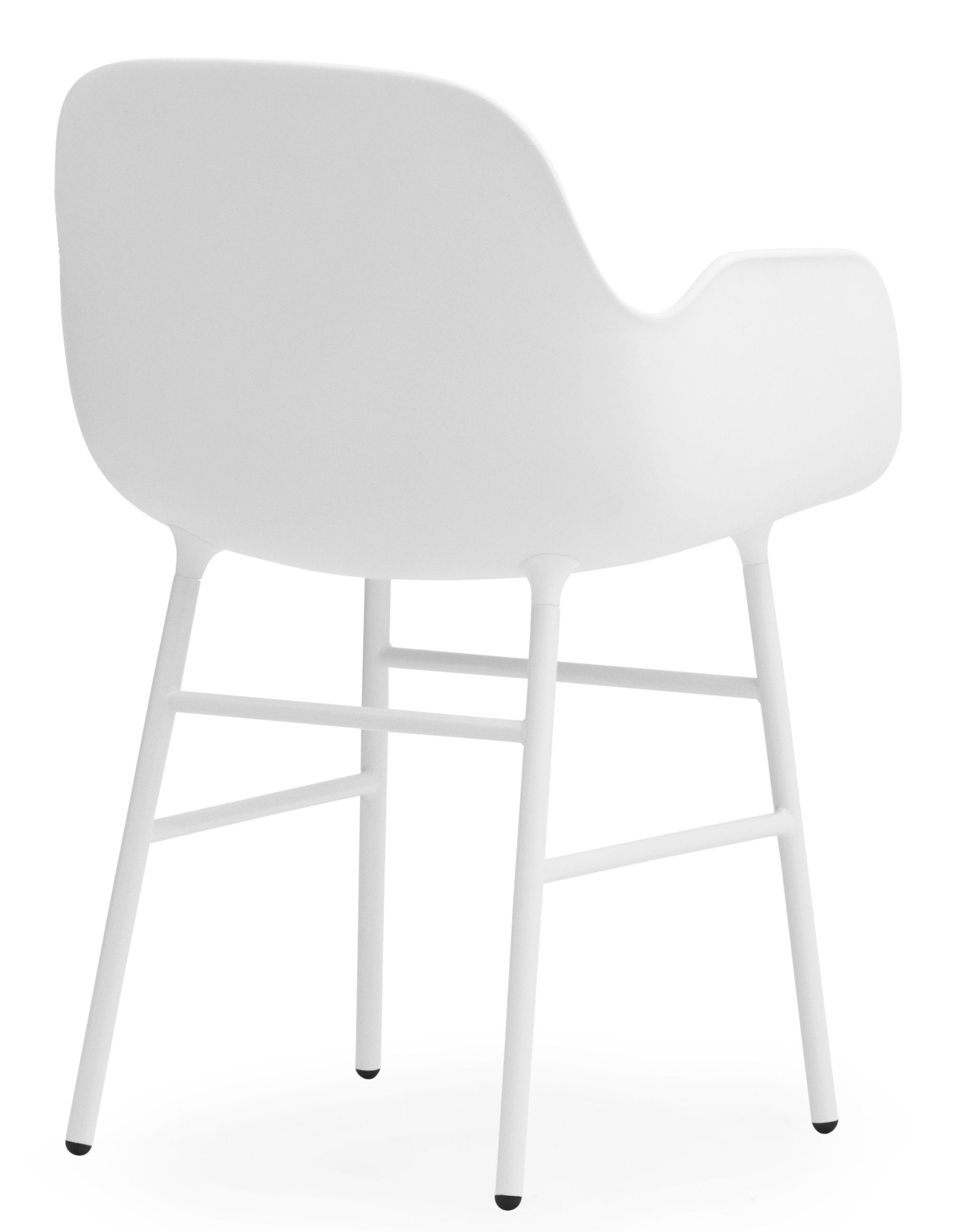 fauteuil form pied m tal blanc normann copenhagen. Black Bedroom Furniture Sets. Home Design Ideas