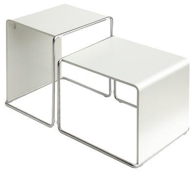 Tavolino d'appoggio Ueno di Lapalma - Bianco laccato - Legno