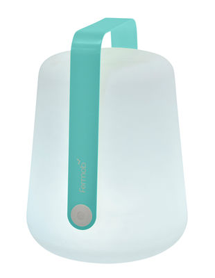 Image of Lampe sans fil Balad LED / H 38 cm - Recharge USB - Fermob bleu lagune en m?tal