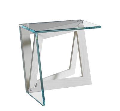 Mobilier - Tables basses - Table d'appoint QuaDror01 - Horm - Frêne blanchi / Verre transparent - Frêne blanchi, Verre trempé