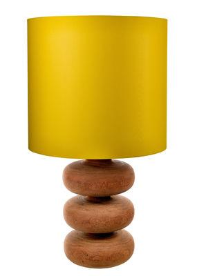 Luminaire - Lampes de table - Lampe à poser Tree times / Bois - H 100 cm - Pols Potten - Bois / Abat-jour jaune - Bois, Tissu