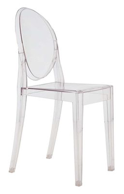 Furniture - Chairs - Victoria Ghost Stacking chair - transparent / Polycarbonate by Kartell - Crystal - Polycarbonate
