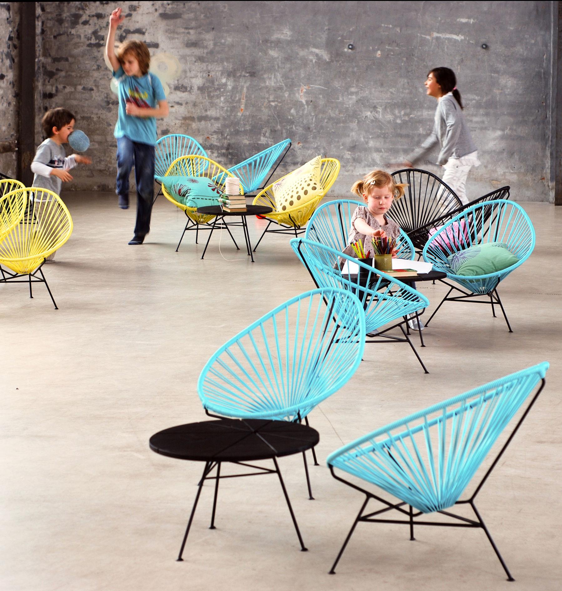 Mini Acapulco Children armchair Dusty Pink by OK Design pour Sentou Edition