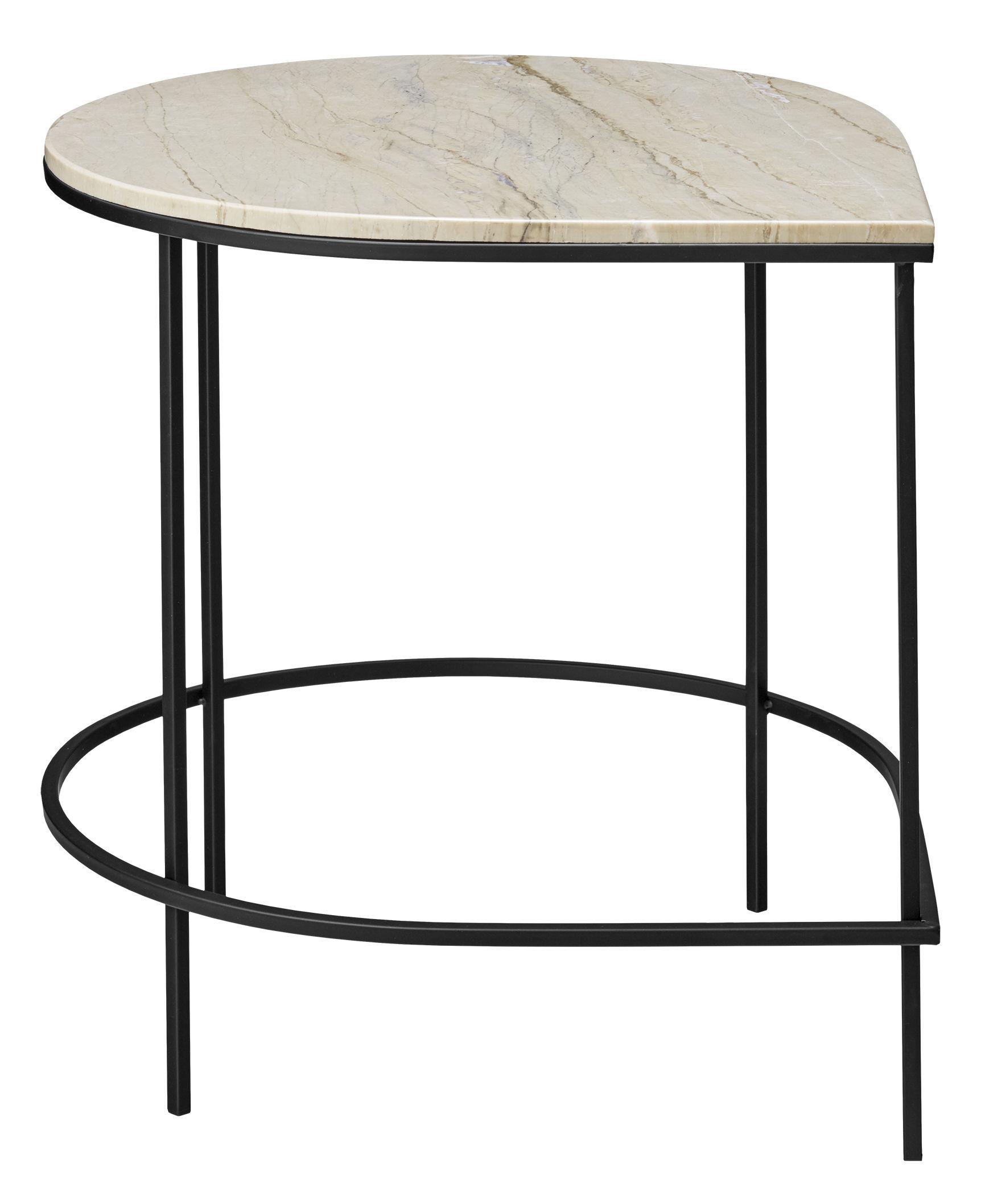 table d 39 appoint stilla plateau marbre h 50 cm marbre blanc pied noir aytm. Black Bedroom Furniture Sets. Home Design Ideas
