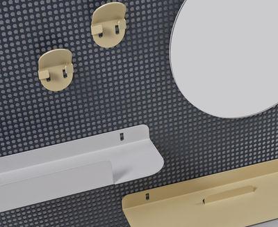 Foto Portaoggetti da parete Alfred / 65 x 45 cm - Hartô - Bianco sporco,Grigio scuro,Champagne - Metallo
