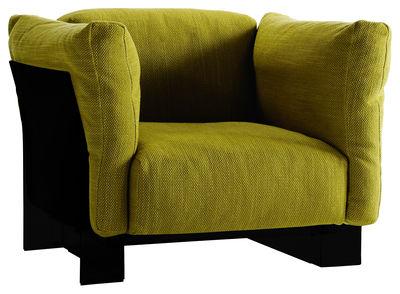 Pop Duo Gepolsterter Sessel Gestell schwarz - Kartell - Grün