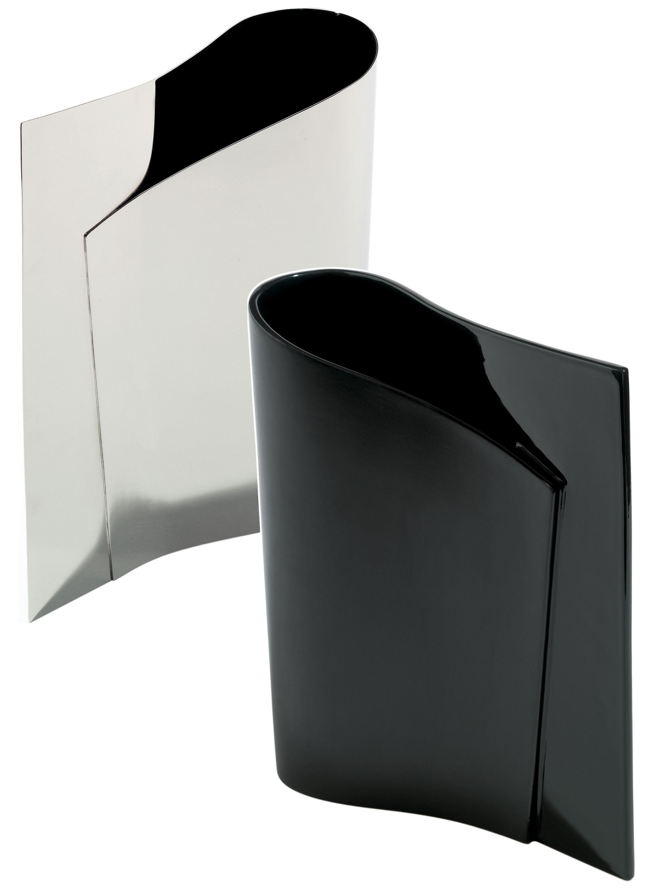 scopri vaso e li li h 37 cm ceramica nera di alessi