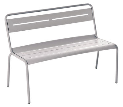 Banc Star / L 118 cm - Métal - Emu gris ciment en métal