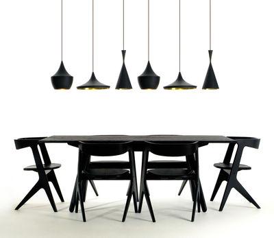 suspension beat fat 24 cm x h 30 cm noir int rieur dor tom dixon. Black Bedroom Furniture Sets. Home Design Ideas