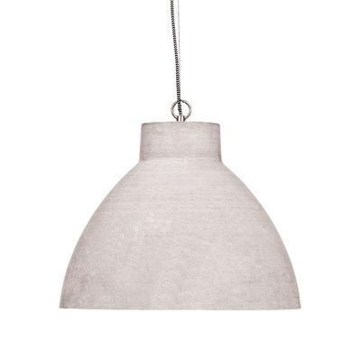 Luminaire - Suspensions - Suspension Cordoba / Ø 43 x H 33 - Effet béton - It's about Romi - Gris clair - Polystone