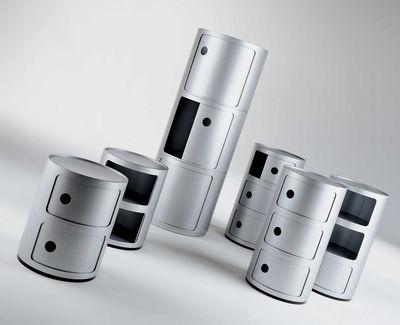 rangement componibili / 2 tiroirs - h 40 cm blanc - kartell - Petit Meuble De Rangement Design
