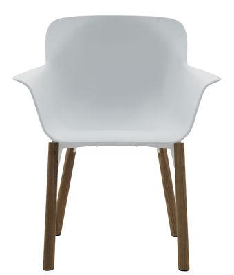 fauteuil lavenham executive coque plastique pieds bois blanc pieds bois de padova made. Black Bedroom Furniture Sets. Home Design Ideas