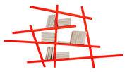 Libreria Mikado Small - / l 185 x H 100 cm - Colore esclusivo di Compagnie - Arancione fluorescente - Legno