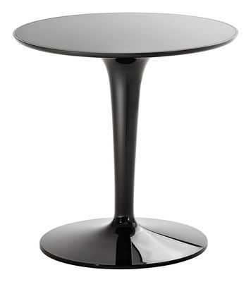 Mobilier - Tables basses - Table d'appoint Tip Top Mono / Monochrome -  Plateau PMMA - Kartell - Laqué noir - PMMA