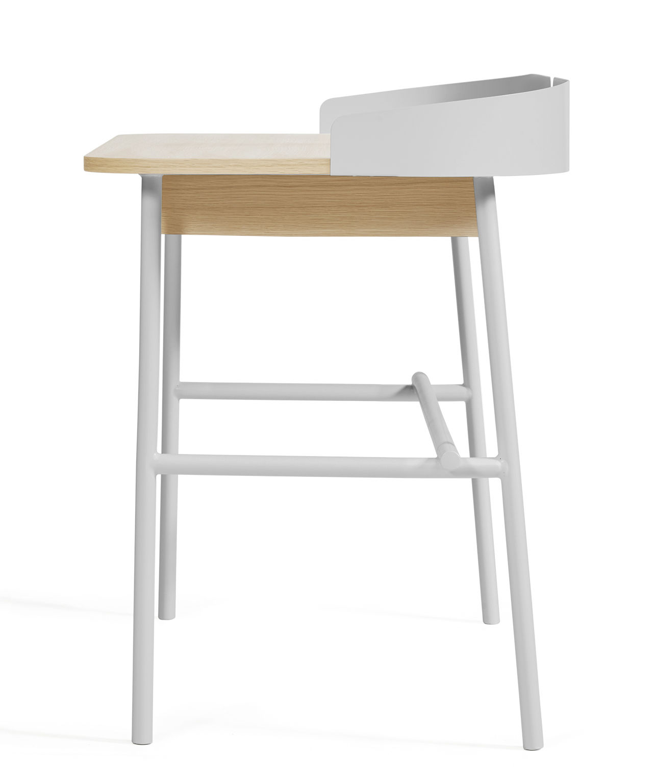 bureau victor gris clair bois naturel hart. Black Bedroom Furniture Sets. Home Design Ideas