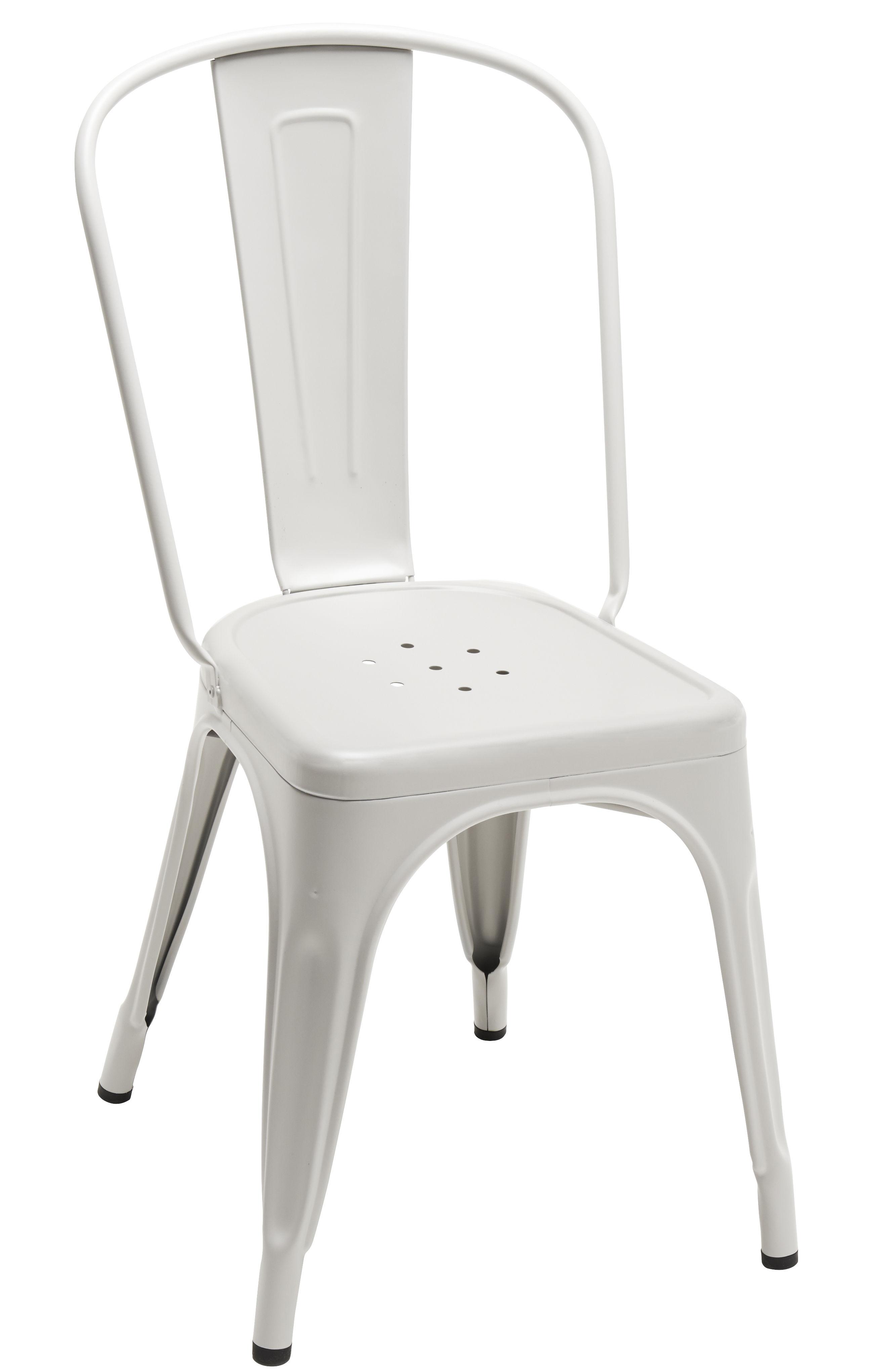 chaise empilable a acier couleur mate le corbusier gris clair 31 tolix. Black Bedroom Furniture Sets. Home Design Ideas