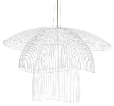 suspension papillon large 100 cm blanc forestier. Black Bedroom Furniture Sets. Home Design Ideas